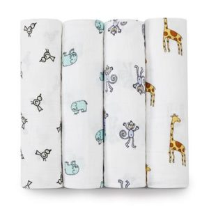 Aden+Anais Classic Muslin Collection 4 Pack Jungle Jam