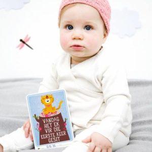 MILESTONE™ Baby Cards Afrikaans Weergawe-0