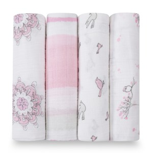 Aden+Anais Classic Muslin Collection 4 Pack For the Birds