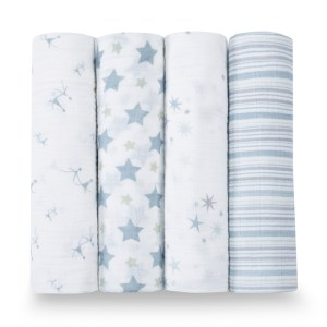 Aden+Anais Classic Muslin Collection 4 Pack Prince Charming
