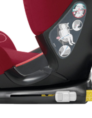 Easy one-click installation offering Isofix safety and ease of use