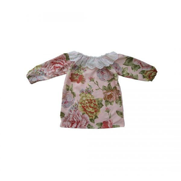 Pink-Floral-Charm-Silk-Dress